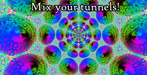 Morphing Tunnels- Trance & chill out visualizer screenshot 3