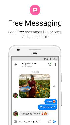 Messenger Lite: Telepon & Pesan Gratis screenshot 1