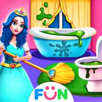 الأميرة تحب التنظيف - تلعب لعبة المنزل للفتيات on 9Apps