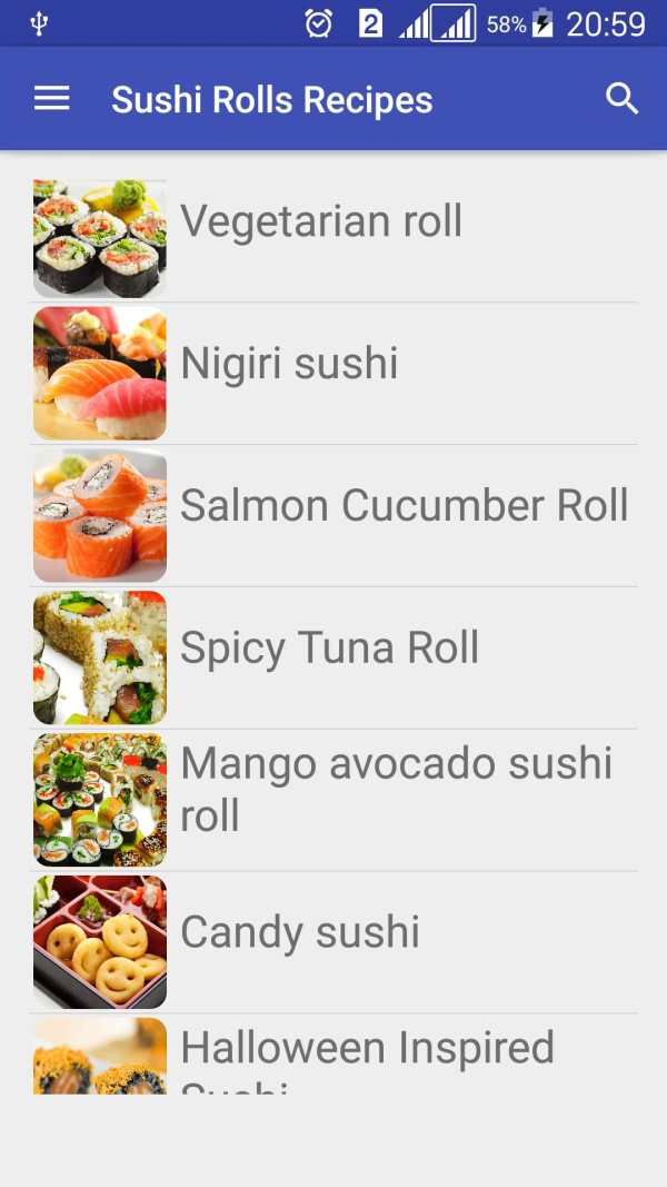 Sushi Rolls Recipes Free скриншот 2
