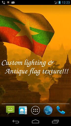 Myanmar Flag Live Wallpaper screenshot 4
