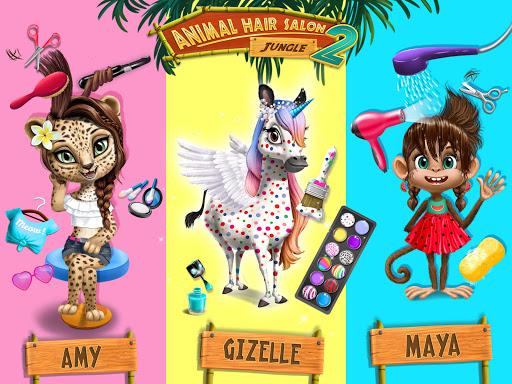 Jungle Animal Hair Salon 2 - Tropical Beauty Salon स्क्रीनशॉट 12