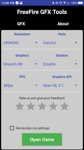 GFX Tool  - Free Fire Booster screenshot 1