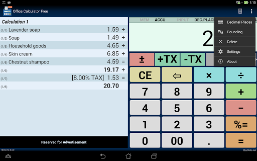 Office Calculator Free 13 تصوير الشاشة