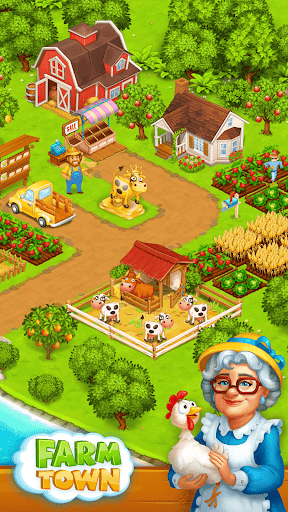 Farm Town: Happy village near small city and town screenshot 1