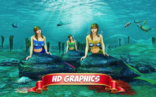 Underwater Mermaid Simulator screenshot 1