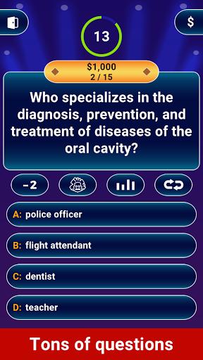 Millionaire 2021 -  Free Trivia Quiz Offline Game 1 تصوير الشاشة