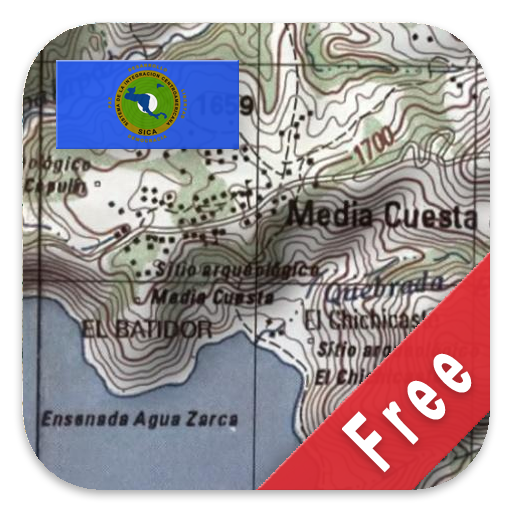 Central America Topo Maps أيقونة