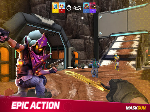 MaskGun Multiplayer FPS - Free Shooting Game screenshot 8