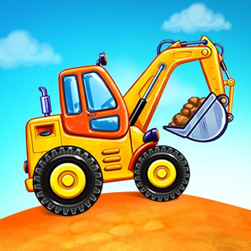 बच्चों के लिए ट्रक गेम - घर की इमारत  कार धोने आइकन