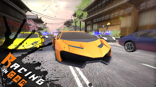 Racing In Car 3D 2 تصوير الشاشة