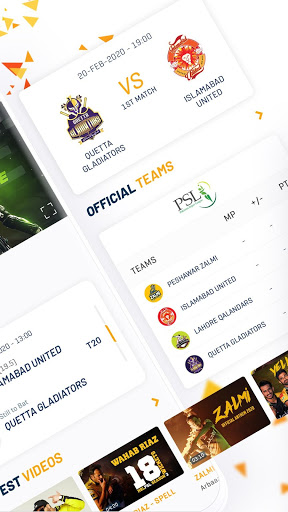 Official Peshawar Zalmi PSL Live Cricket Streaming screenshot 2