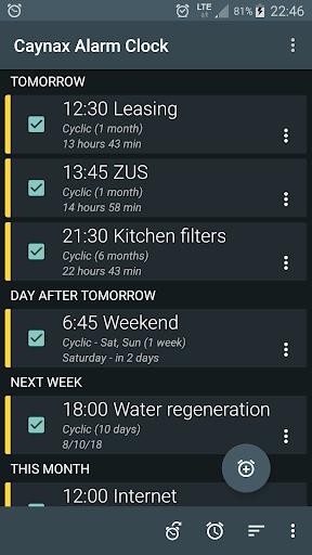 Alarms, tasks, reminder, calendar - all in one screenshot 1