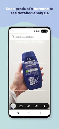 CodeCheck: Food & Cosmetic Product Scanner 3 تصوير الشاشة