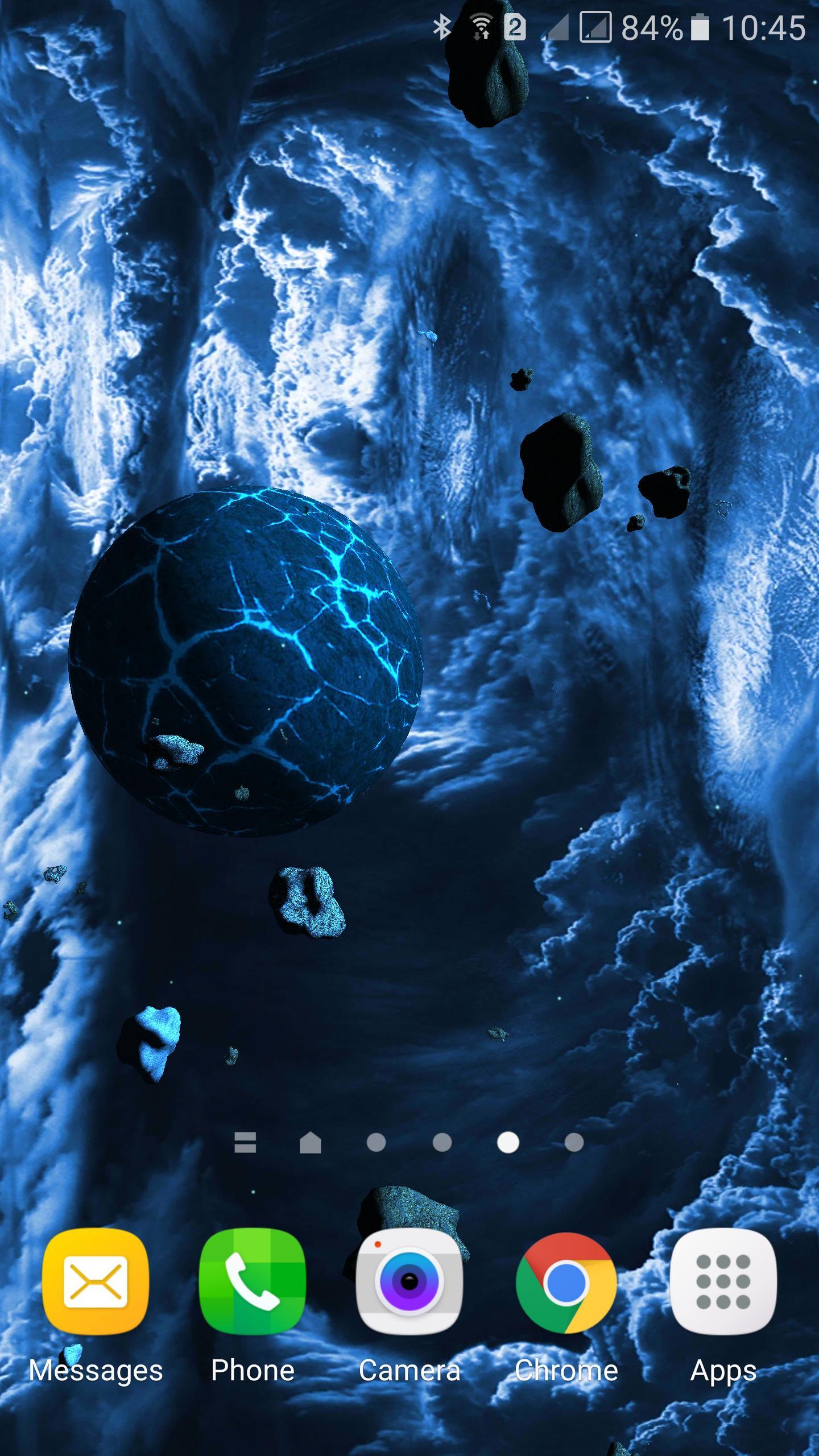 Asteroids 3D live wallpaper 5 تصوير الشاشة