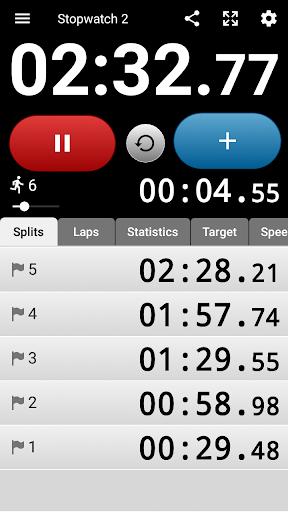 Talking Stopwatch - The advanced timer with speech screenshot 1