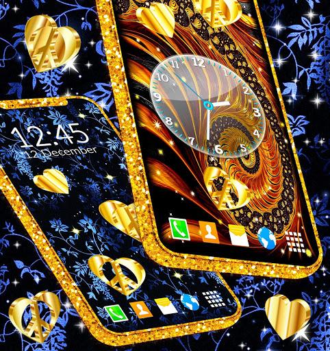Gold Hearts 4K Wallpaper 💛 Golden live Wallpaper 6 تصوير الشاشة