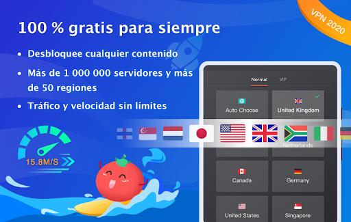 VPN Tomato gratis | Veloz proxy VPN hotspot gratis screenshot 6