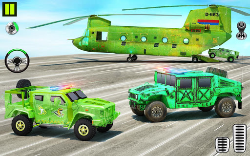 US Army Transporter Plane - Car Transporter Games screenshot 2