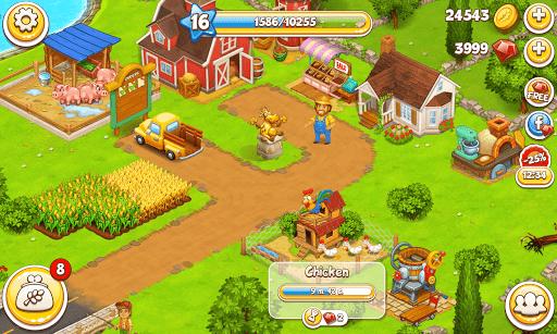 Farm Town: Happy village near small city and town screenshot 5