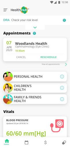 HealthHub SG 1 تصوير الشاشة