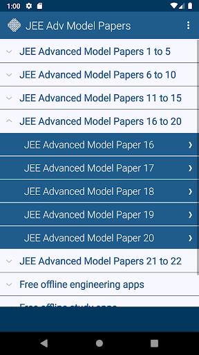 JEE Advanced Model Papers Free screenshot 2