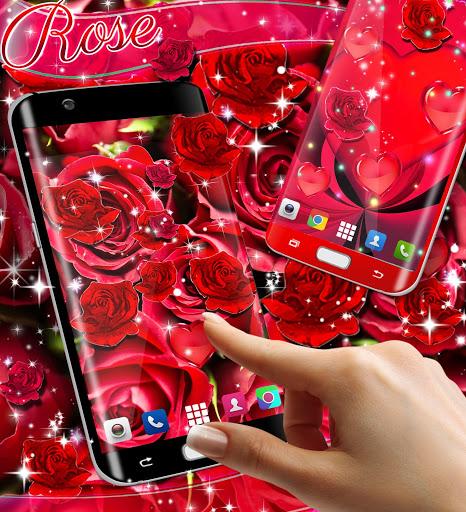 Red rose live wallpaper 3 تصوير الشاشة