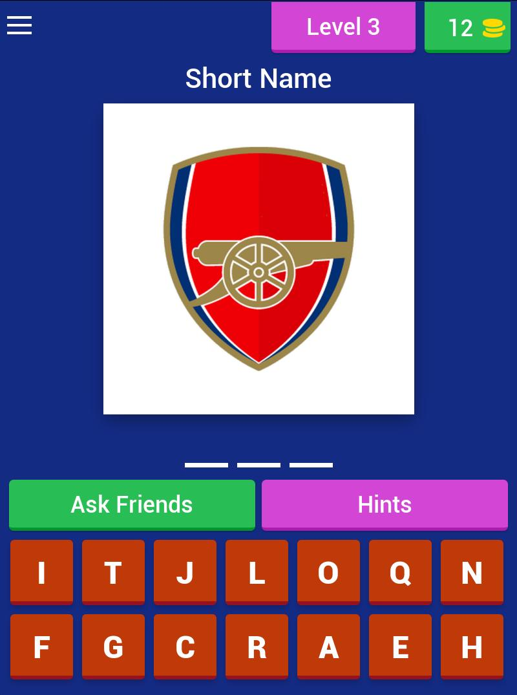 Football Club Logo : Short Name Quiz 4 تصوير الشاشة