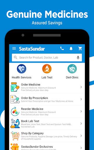 SastaSundar-Genuine Medicine, Pathology,Doctor App screenshot 1