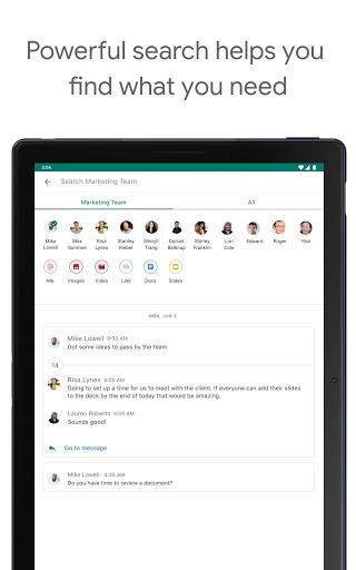 Google Chat screenshot 10