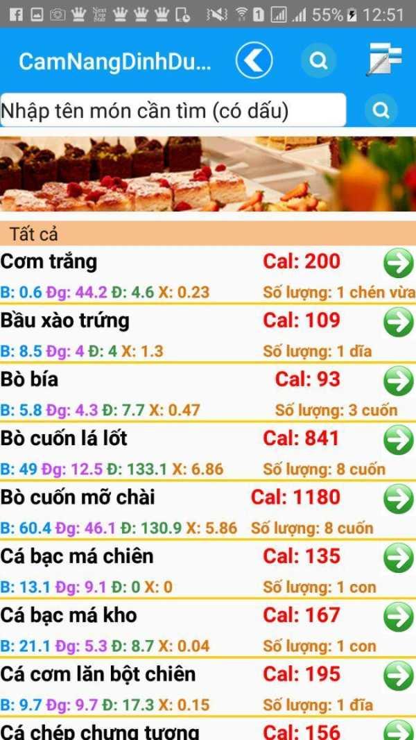Cẩm Nang Dinh Dưỡng screenshot 5