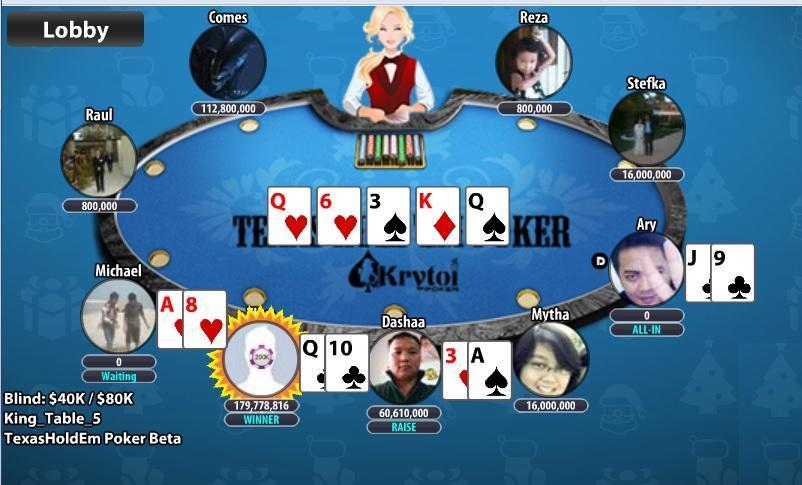 Krytoi Texas Holdem Poker. screenshot 5