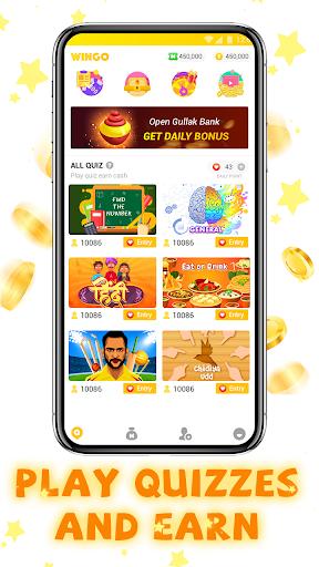 WinGo QUIZ - Earn Money Play Trivia Quiz screenshot 2