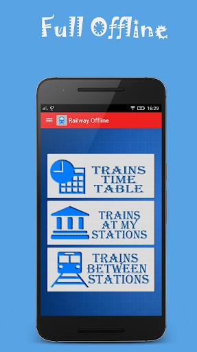 Indian Rail Offline Time Table screenshot 1