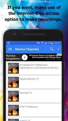 TV Mexico Channels Info screenshot 2