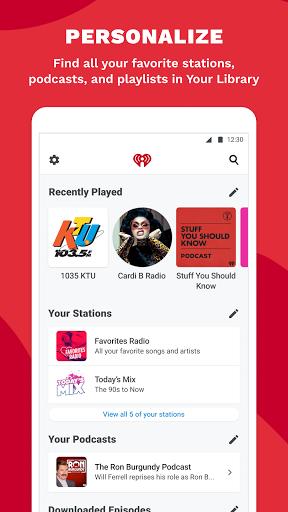 iHeartRadio: Radio, Podcasts & Music On Demand 7 تصوير الشاشة