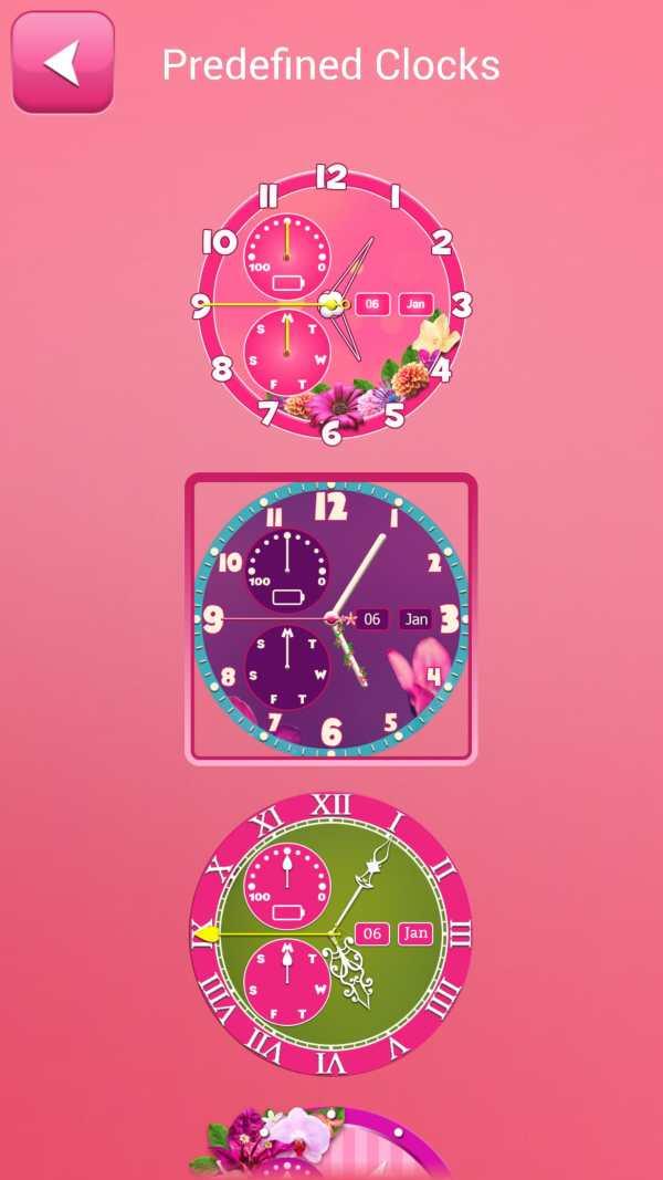 Flower Clock Wallpaper screenshot 5