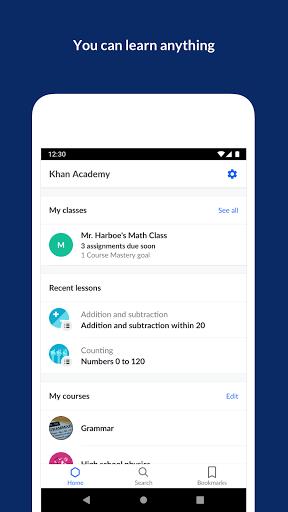 Khan Academy screenshot 1