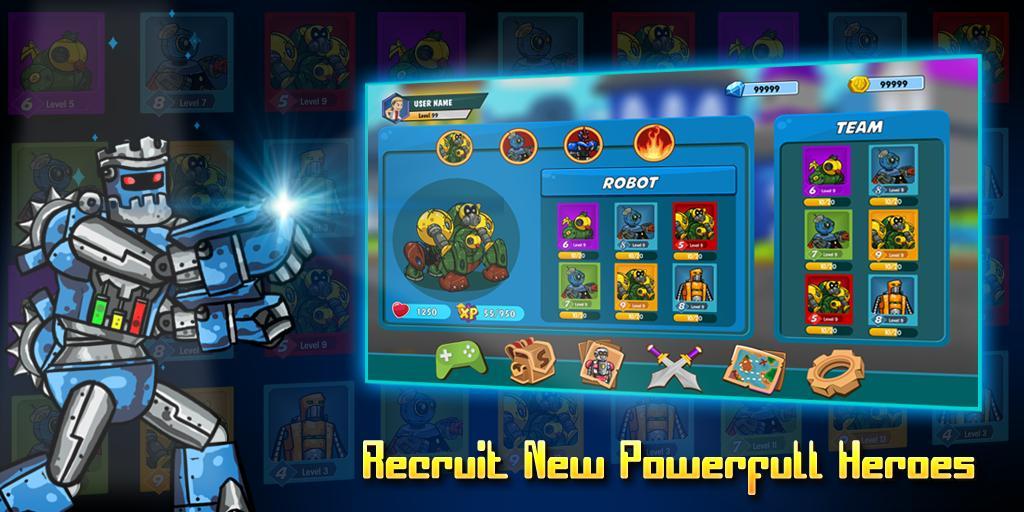 Robot Evolved : Clash Mobile 2 تصوير الشاشة