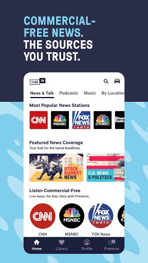 TuneIn Radio: Live News, Sports & Music Stations 3 تصوير الشاشة
