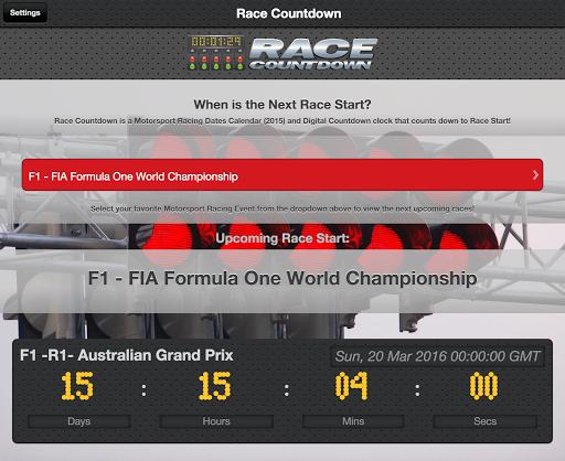 Motorsport Racing Calendar 5 تصوير الشاشة