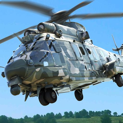 الجيش هليكوبتر الناقل الطيار محاكي 3D أيقونة
