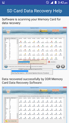 SD Card Data Recovery Help screenshot 8