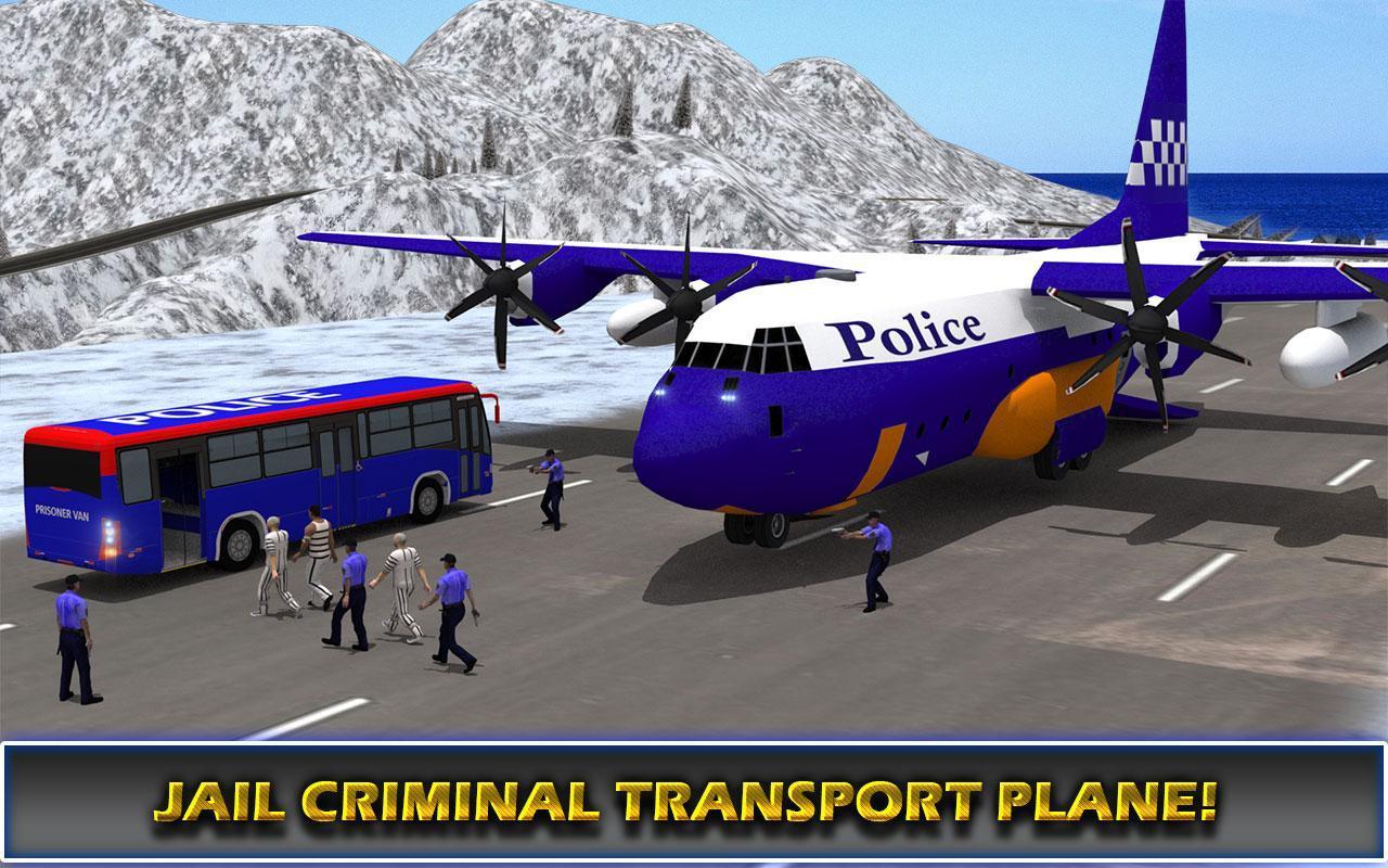 US Police Airplane Cop Dog Transporter Kids Games screenshot 13