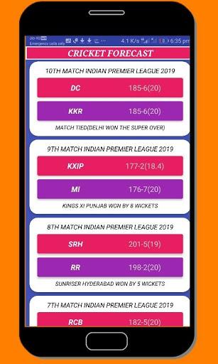 cricket forecast ( prediction, BBL ,BPL, IPL,PSL ) screenshot 3
