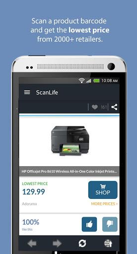 ScanLife Barcode & QR Reader 2 تصوير الشاشة