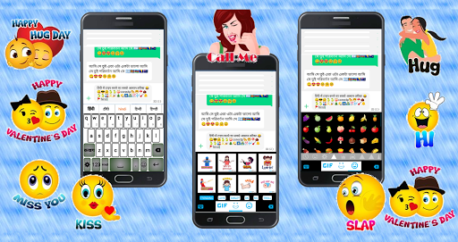 Quick Hindi Keyboard Emoji & Stickers Gifs screenshot 1