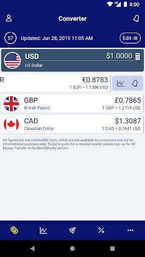 XE Currency Converter & Money Transfers Pro screenshot 2