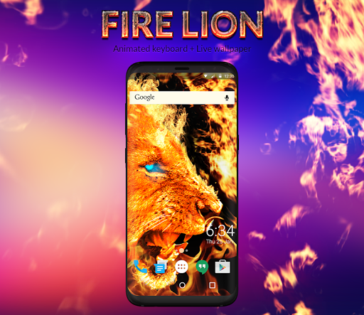 Fire Lion Animated Keyboard + Live Wallpaper screenshot 4
