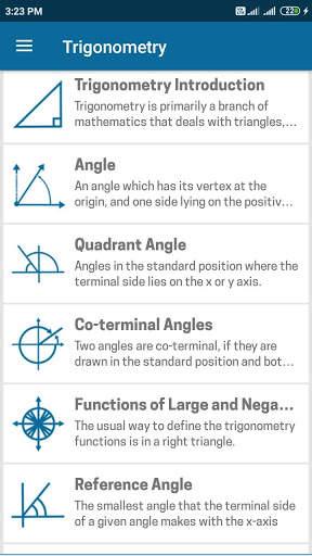 Trigonometry Mathematics screenshot 3